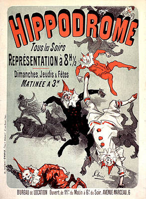 Painting - Hippodrome 1885 Vintage French Advertising by Vintage French Advertising