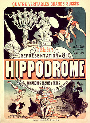 Painting - Hippodrome Vintage French Advertising by Vintage French Advertising