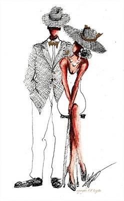 Drawing - His And Her Style by C F Legette