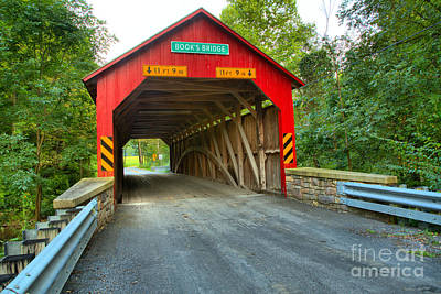 Photograph - Historic Books Covered Bridge by Adam Jewell