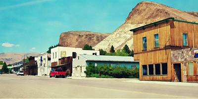 Photograph - Historic Buildings In Challis Idaho by Tatiana Travelways