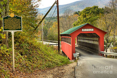 Photograph - Historic Chiselville Covered Bridge by Adam Jewell