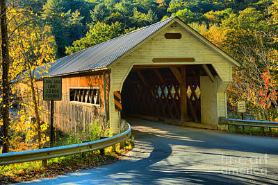 Photograph - Historic Dummerston Covered Bridge by Adam Jewell