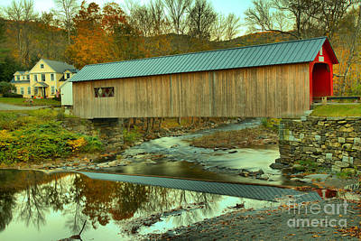 Photograph - Historic Green River Covered Bridge by Adam Jewell