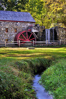 Photograph - Historic Grist Mill In Sudbury by Luke Moore
