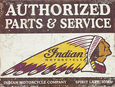 Photograph - Historic Indian Motorcyle Sign by Kevin McCarthy