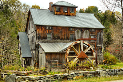 Photograph - Historic Jeffersonville Grist Mill by Adam Jewell