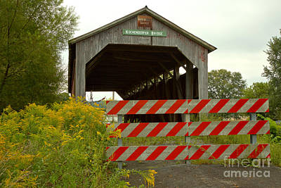 Photograph - Historic Kochenderfer Covered Bridge by Adam Jewell