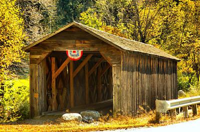 Photograph - Historic Mcdermott Covered Bridge by Adam Jewell
