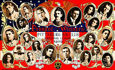 Painting - Historic Pittsburgh Baseball Club Graphics by Unknown