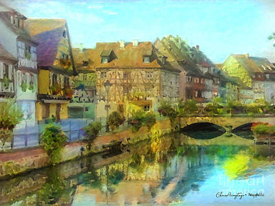 Painting - Historic Village On The Rhine by Chris Armytage