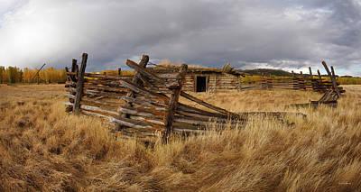 Photograph - Historical Cabin Montana by Leland D Howard