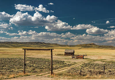 Photograph - Historical Rural Montana by Leland D Howard