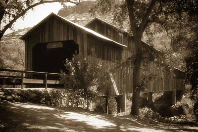 Photograph - History Lost The Honey Run Bridge by Marnie Patchett