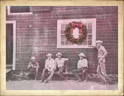 Photograph - Hitching Post Holiday  by Jamart Photography