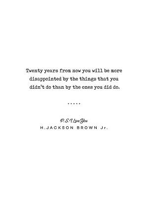 Mixed Media Rights Managed Images - H Jackson Brown Jr Quote 01 - Typewriter Quote - Minimal, Modern, Classy, Sophisticated Art Prints Royalty-Free Image by Studio Grafiikka