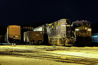 Photograph - Hlcx #7177 @ Night by Joseph C Hinson Photography