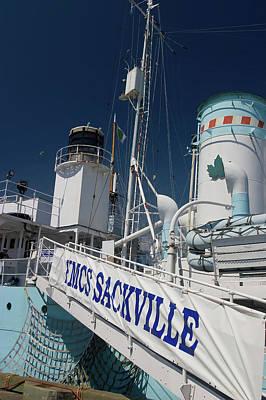 Nova Scotia Wall Art - Photograph - Hmcs Sackville Ship In Halifax Harbour by David Smith