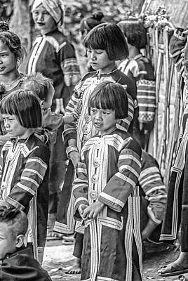 Vermeer Rights Managed Images - Hmong Girls bw Royalty-Free Image by Steve Harrington