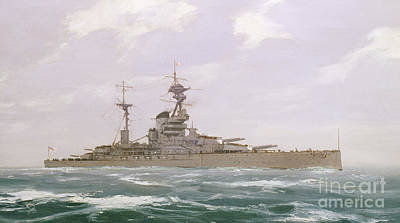 Painting - Hms Resolution, 1923 by Duff Tollemache