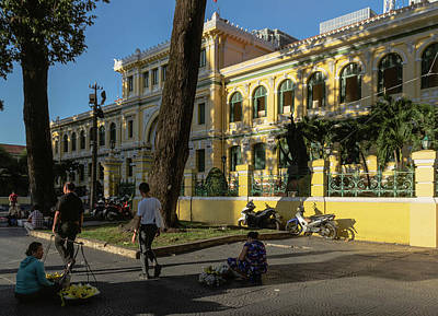 Wall Art - Photograph - Ho Chi Minh City Central Post Office by Steven Richman
