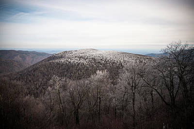 Photograph - Hoarfrost On The Mountain Top by Mark Duehmig