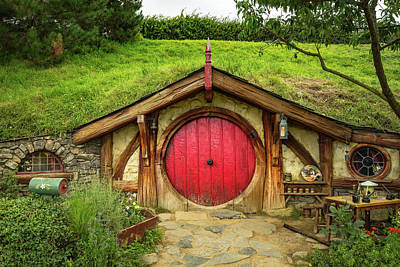 Photograph - Hobbit House - Red Door by Racheal Christian