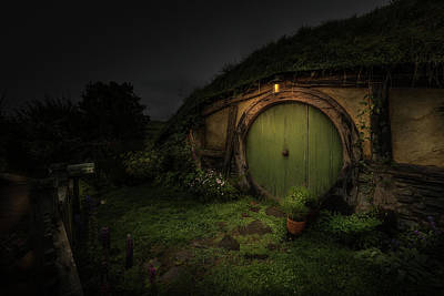 Photograph - Hobbiton At Night #1 by Racheal Christian