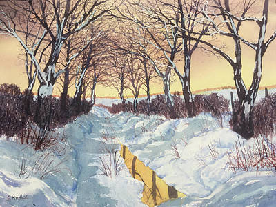 Painting -  Tunnel In Winter by Glenn Marshall