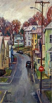 Painting - Holden Street Autumn Rain by Thor Wickstrom