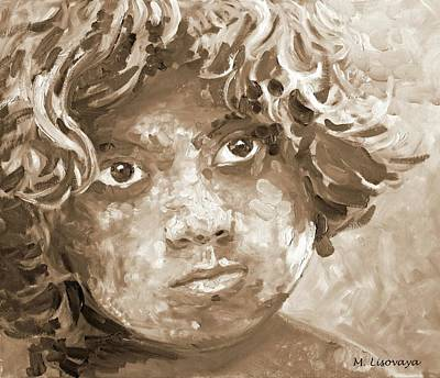 Holi Boy. Sepia. 3 Of 6 Colorful And Monochromatic Series. Original