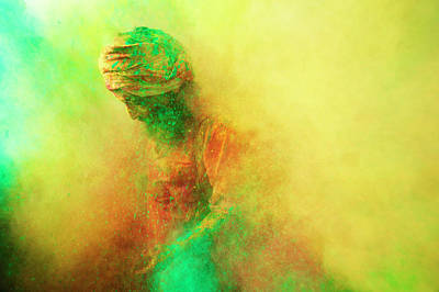 India Photograph - Holi, Festival Of Colors, India by Poras Chaudhary