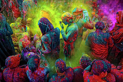 India Photograph - Holi, The Festival Of Colors, India by Poras Chaudhary