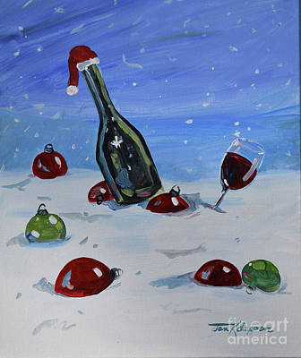 Painting - Holiday Cheer At The Vineyards by Jan Dappen