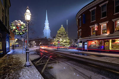 Photograph - Holiday Magic, Market Square by Jeff Sinon