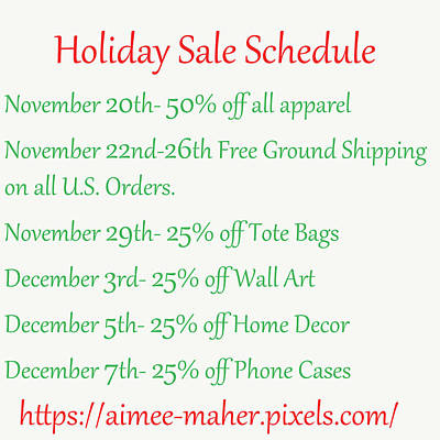 Photograph - Holiday Sale Schedule by Aimee L Maher ALM GALLERY