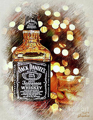 Digital Art - Holiday Spirit Jack Daniels by CAC Graphics