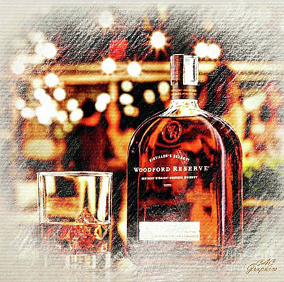 Digital Art - Holiday Spirit Woodford Reserve by CAC Graphics