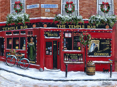 Wall Art - Painting - Holidays At The Temple Bar by Marilyn Dunlap
