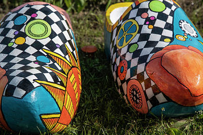 Photograph - Holland Michigan Tulip Festival Wooden Shoes  by John McGraw