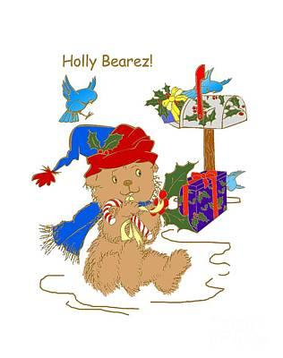 Mixed Media - Holly Bearez by Belinda Landtroop