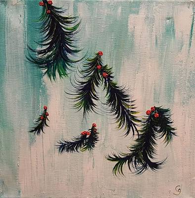Painting - Holly Wings by Cheryl Nancy Ann Gordon