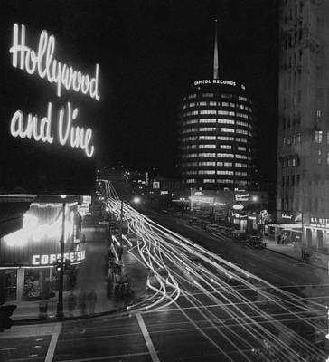 Architecture Photograph - Hollywood And Vine by Authenticated News
