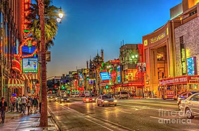 Advertising Archives - Hollywood Boulevard Beautiful Night Rain Reflections Lit by David Zanzinger