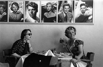 Drinking Photograph - Hollywood Cafe by Kurt Hutton