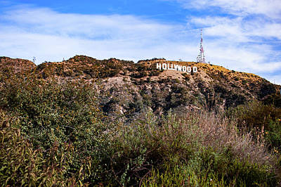 Photograph - Hollywood California Sign In The Hills by Gregory Ballos