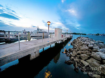 Photograph - Hollywood Marina Series 1 by Carlos Diaz
