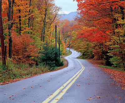 Pub Photograph - Hollywood Rd At Route 28, Adirondack by Jim Schwabel