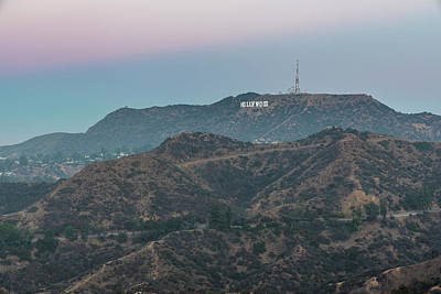 Photograph - Hollywood Sign At Sunrise  by John McGraw