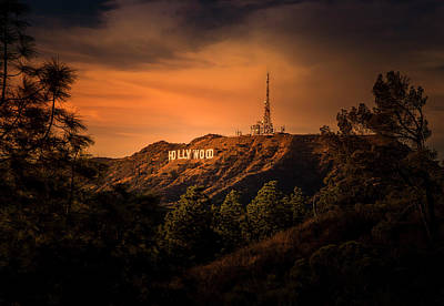 Photograph - Hollywood Sunset by Gene Parks